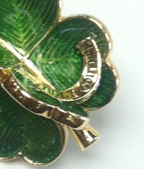 Juicy Couture JUICY COUTURE 2007 RARE 3D four leaf clover green/gold charm
