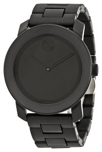 Movado Black TR90 Stainless Steel Designer MENS Dress Casual Watch