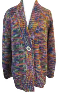 Coldwater Creek Variegated Multicolor Button Front Longsleeve Cardigan