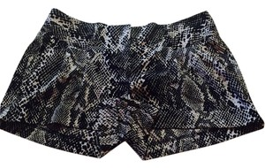 Express Mini/Short Shorts Black & White Snake print
