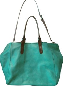Cole Haan Tote in Turquoise/Grey/Black