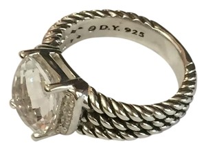 David Yurman petite wheaton ring with white topaz 10x8mm