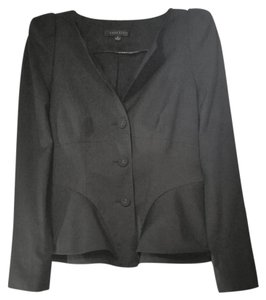 Anne Klein Vintage Peplum Fitted black Blazer