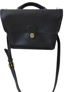 Coach Leather Messenger Shoulder Bag