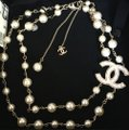 Chanel Chanel CC Pearl Gold Necklace