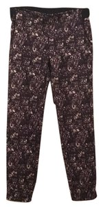Saks Fifth Avenue Baggy Pants Purple/Black flower print
