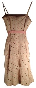 BCBGMAXAZRIA short dress Dotted Swiss Cream with Brown & Pink Polka Dots on Tradesy