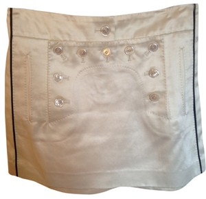 Louis Vuitton Skirt Cream With Navy Blue Pipping