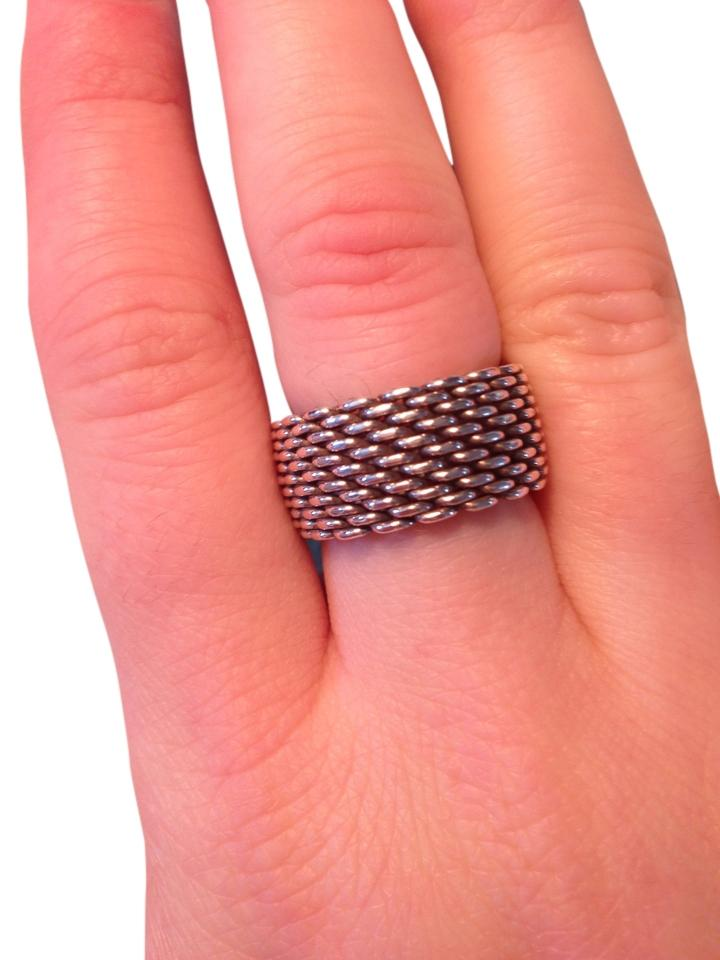 69388009f97 Tiffany   Co. Sterling Silver Somerset Wide. Ring - Tradesy