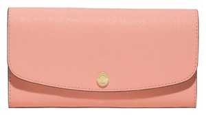 Michael Kors Juliana Large Wallet 3-in-1 Saffiano Leather Peach / grapefruit / pink Clutch