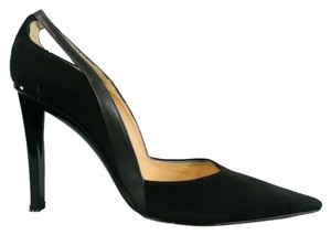 Donna Karan Suede Retro Cut Out Black Pumps