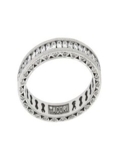 Tacori Tacori HT2326SMB Classic crescent diamond wedding eternity band in 18K