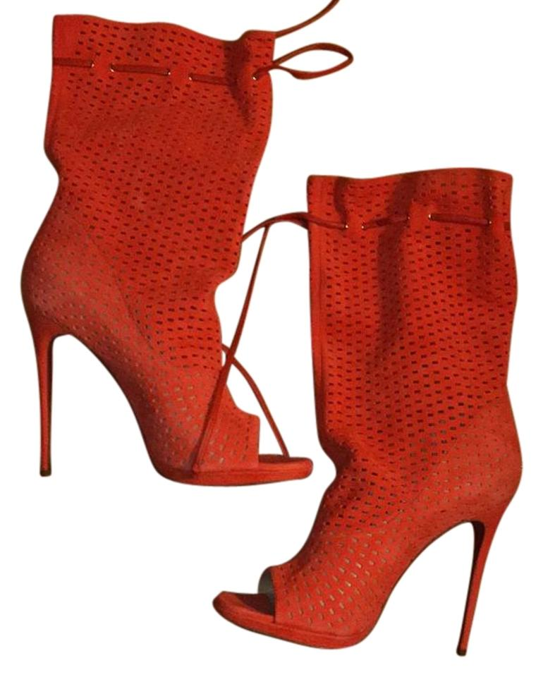 san francisco c36c9 89a80 Christian Louboutin Orange Jennifer 120 Suede/Nappa Boots/Booties Size US  9.5 Regular (M, B) 37% off retail