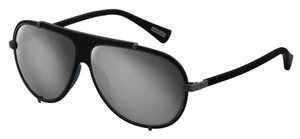 Lanvin NEW Lanvin SLN 021 Aviator Black Mirrored Metal Wired Sunglasses