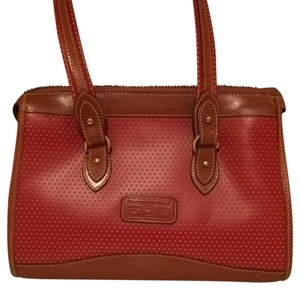 Dooney & Bourke Satchel in Red and Tan