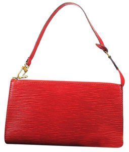 Louis Vuitton Epi Red Clutch