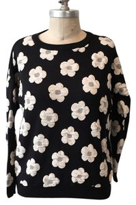 French Atmosphere Neutral Floral Dimensional Mod Sweater