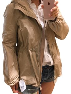 Moncler Khaki Nylon Trench Coat