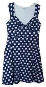 Monteau Los Angeles short dress Blue, White Summer on Tradesy