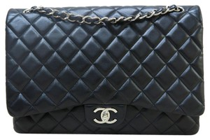 7d3066d87226 Chanel Classic Flap Classic Maxi Double Black Lambskin Shoulder Bag ...