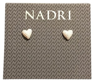 Nadri Mini Heart Pave Earrings