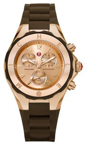 Michele NWT Michele Women's Tahitian Jelly Bean Rose Gold and Brown watch $395