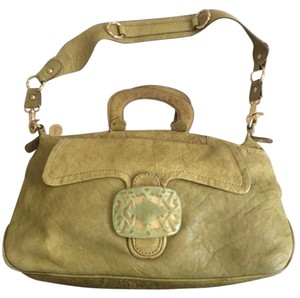 Tracy Reese Distressed Leather Gold Hardware Shoulder Bag