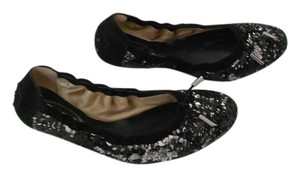 Tod's Chic Design Made In Italy Black/Silver Flats
