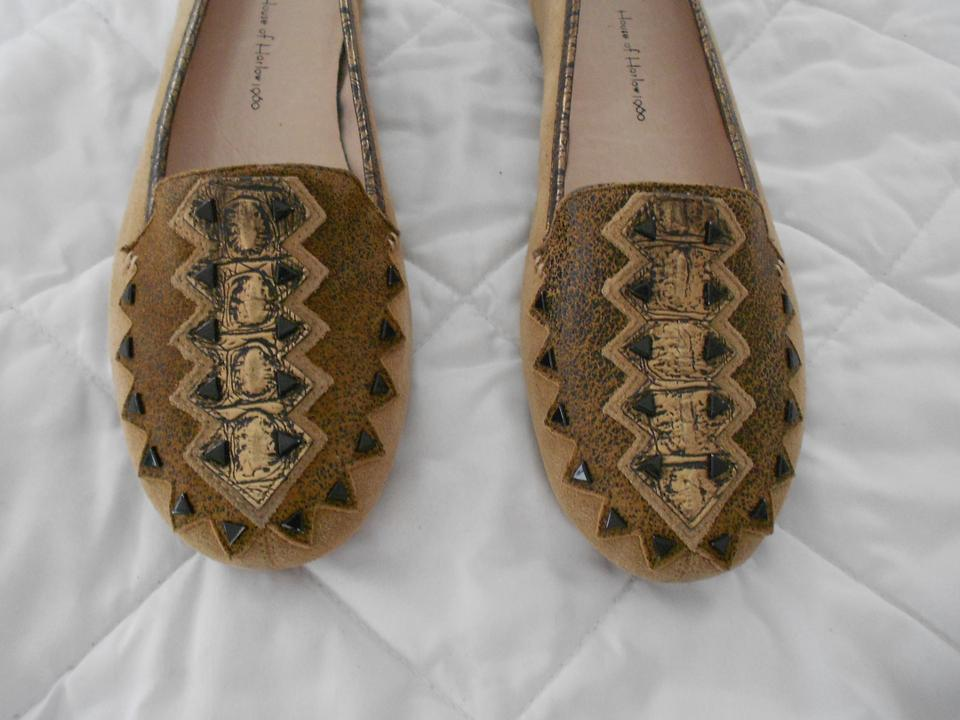 House of Harlow 1960 Brown Maxx Studded Loafer Flats Size EU 38.5 ...