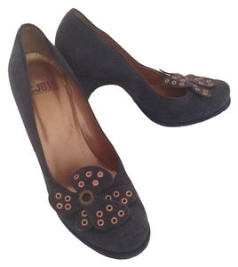 Charles Jourdan Bis Retro Navy Blue Pumps