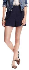 Old Navy High-rise Twill Dress Shorts Navy Blue