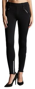 True Religion Stretchy Performance Reflective Black Leggings