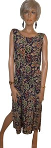 Navy Paisley Maxi Dress by Moda International