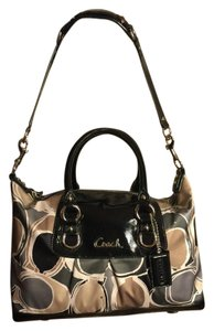 Coach Satchel in Black/Gray/Tan/White