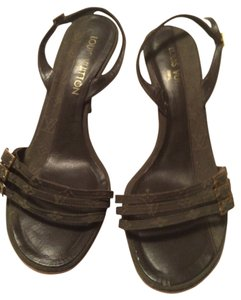 Louis Vuitton dark green Sandals