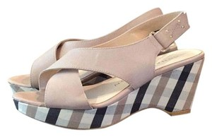 Sacha London Neutral, tan, black Wedges