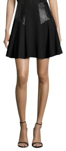 Nanette Lepore Size 12 Leather Black Skirt