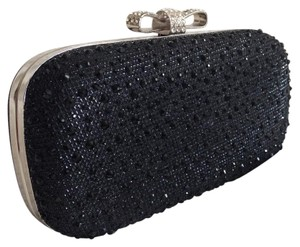 INC International Concepts Black/Silver Clutch