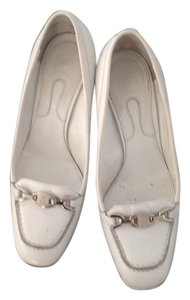 Bally White Pumps