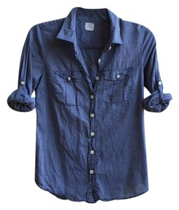 J.Crew Boy Shirt Blue Casual Button Down Shirt Denim