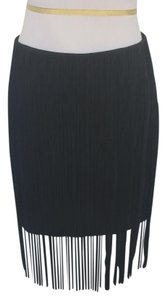 Rag & Bone Fringe Hem Mini Mini Skirt Black