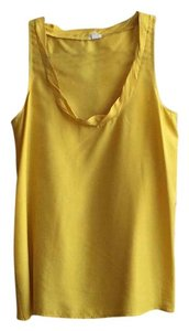 J.Crew Silk Tank Top Yellow