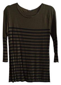 J.Crew Striped Longsleeve T Shirt Olive