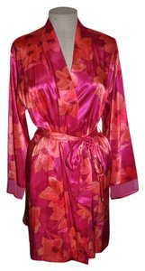 Halston short dress Pink Robe Housecoat Designer Floral Luxury on Tradesy