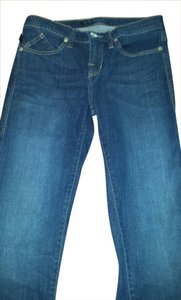 Rock & Republic Jean Dark Designer Straight Skinny Jeans-Medium Wash