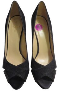 Kate Spade Black with Black Glitter Pumps