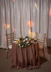 Rose Gold Sequin Overlays And Runners