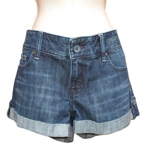 Express Denim Mid-rise Cuffed Shorts Dark