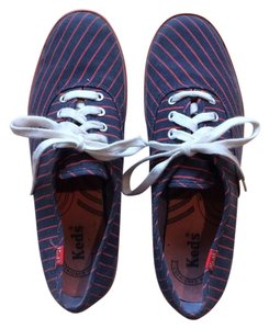 Keds Preppy Red and Blue Striped Flats