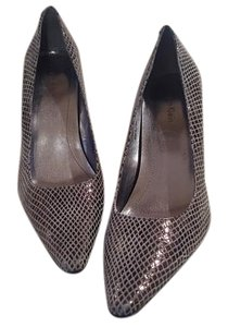 Calvin Klein Leather Snakeskin Grey/Silver Pumps